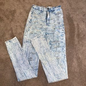 Distressed jeans super ripped woman's size 3